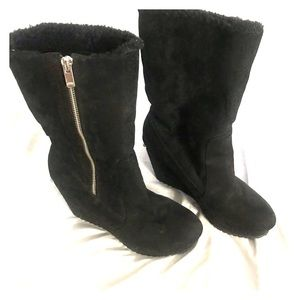 Juicy couture wedged booties